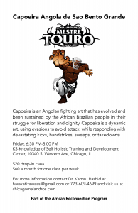 Capoeira class flyer-single-2-only Friday
